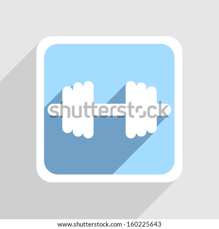 Vector blue icon on gray background. Eps10 - stock vector