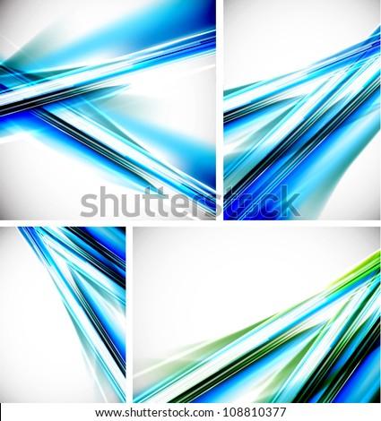 Vector blue line backgrounds - stock vector