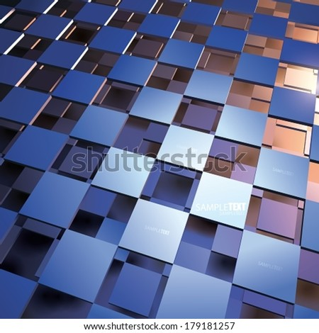 VECTOR blue - orange Abstract Background - stock vector