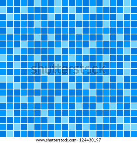 Vector blue tile wall - stock vector