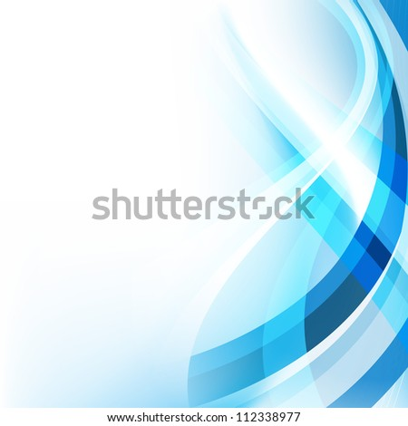 vector blue wave style design - stock vector