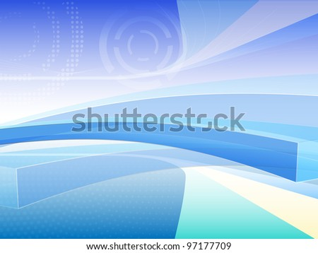 vector bluish abstract background illustration, eps10 file, raster version available - stock vector