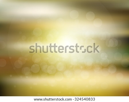 Vector blurred circle abstract background with bokeh light circles - stock vector