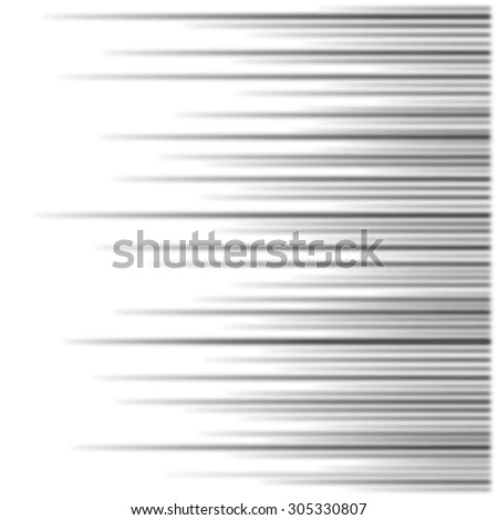 vector blurred speed lines background - stock vector
