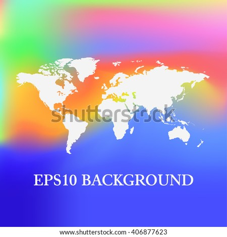 Vector Blurred World Map background.  - stock vector