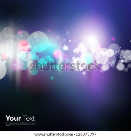 Vector Blurry Lights Background - stock vector