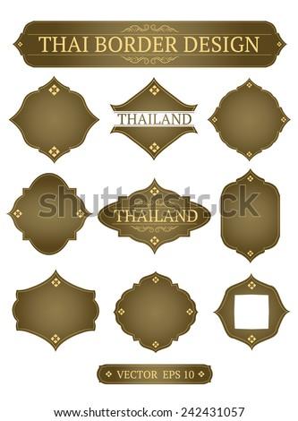 vector border design thai art - stock vector