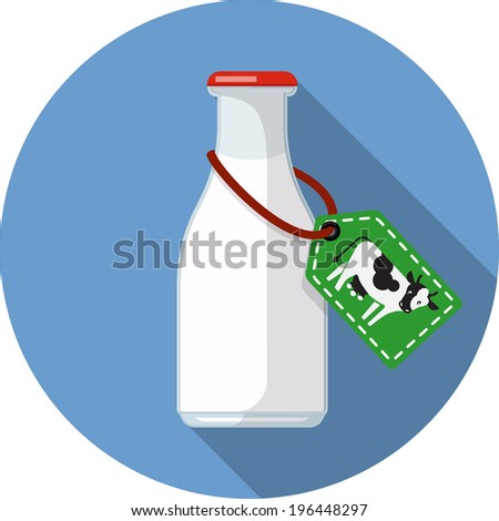 Vector Bottle of milk  - stock vector