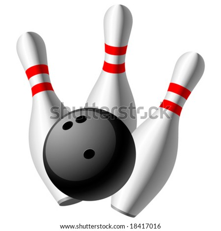 Vector bowling - stock vector