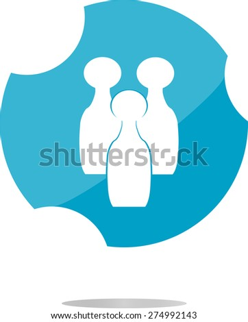 vector Bowling game sign icon. bowling pin skittle symbol - stock vector