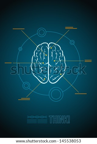 Vector brain infographic template.  - stock vector