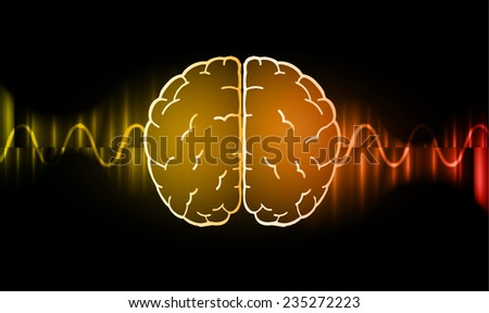 vector brain processes technology, creative idea concept  - stock vector