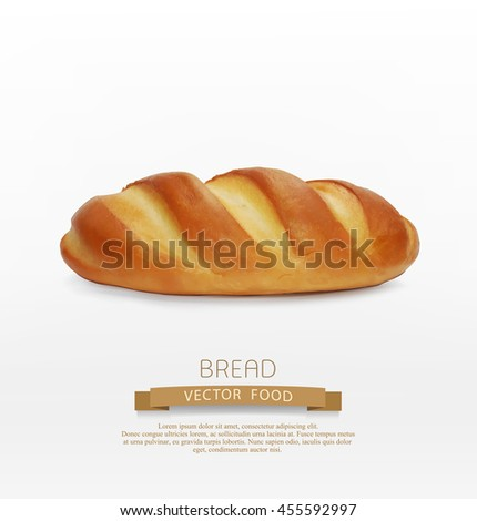 vector bread (loaf) isolated on white background - stock vector