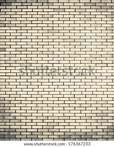 vector brick grunge wall background - stock vector