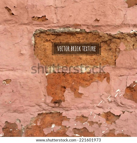 Vector Brick Texture, Vector Illustration - stock vector