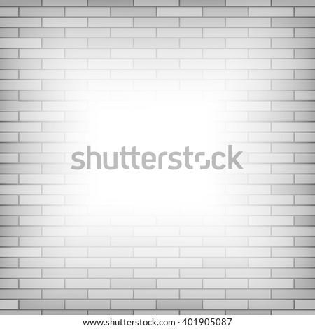 Vector Brick Wall Background - stock vector