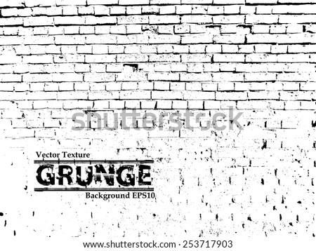 Vector Brick Wall Texture - stock vector