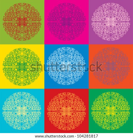 Vector bright abstract seamless background - stock vector