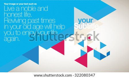 Vector Brochure / Booklet Layout Design Template - Colorful Quadrangle - stock vector