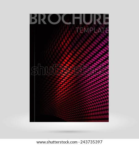 Vector brochure cover design template. Clean contemporary design. - stock vector