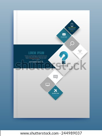 Vector brochure design template, flyer layout, magazine cover & poster template. Vector illustration. Can use for printing and web. - stock vector
