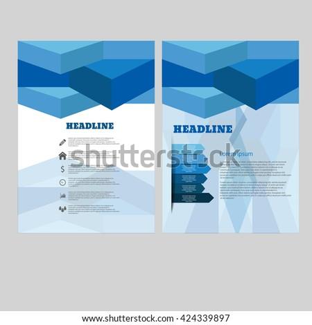 Vector brochure flyer magazine cover poster  eps 10 vector - stock vector