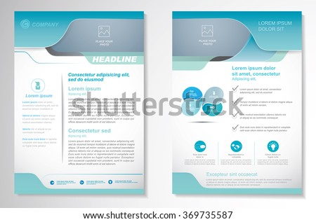 Vector Brochure Layout template, Front page and back page, Easy to use and edit - stock vector