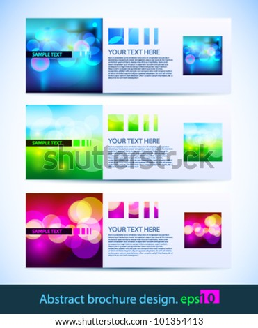 Vector brochure set - stock vector