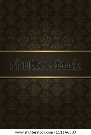 Vector brown and gold luxury background - stock vector