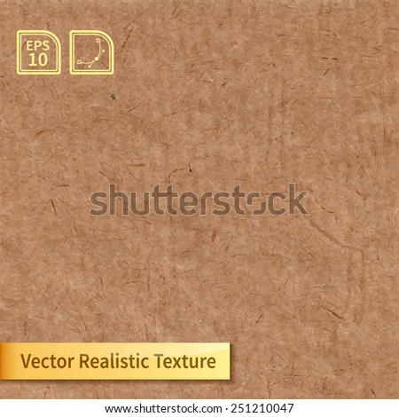 Vector brown rice paper photo texture. Background for your design. - stock vector
