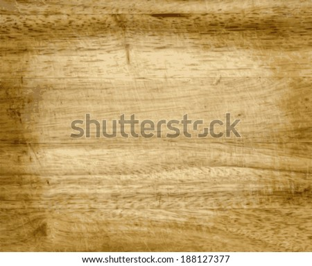 Vector Brown Wood Texture With Natural Patterns - stock vector