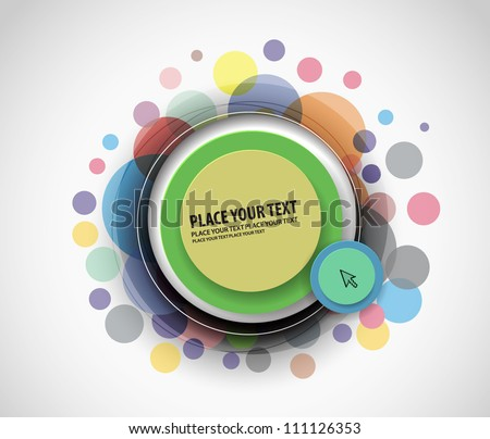 Vector bubble banner design. - stock vector