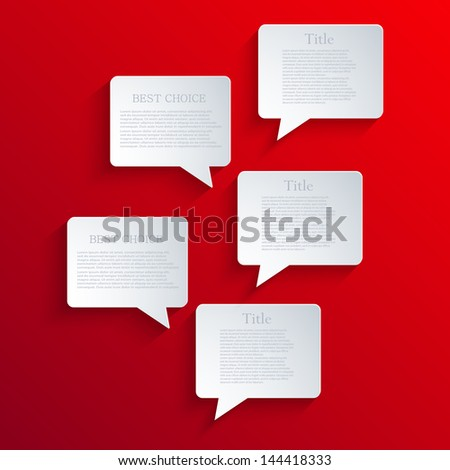 Vector bubble speech background. Eps10 - stock vector