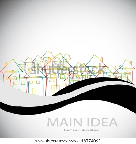 Vector buildings design - stock vector