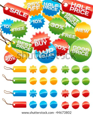 Vector business badges mega-pack. You can use it for your online shop, business website, blog, artwork. You can edit any button as you like. - stock vector