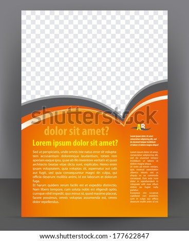 Vector business brochure design, flyer and cover print template - stock vector