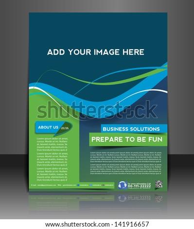 Vector business brochure, flyer, magazine cover & poster template. - stock vector