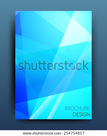 Vector business brochure flyer template or corporate banner design in A4 size. Modern abstract web, poster ,brochure design template. - stock vector
