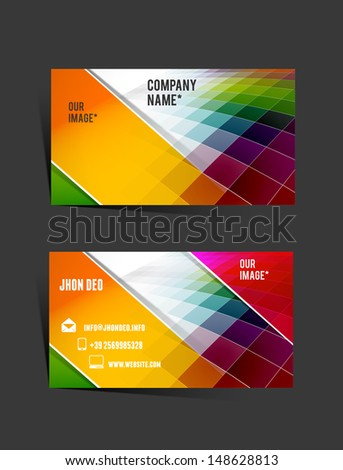 vector business card  - stock vector