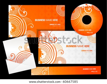 Vector business card package design - stock vector