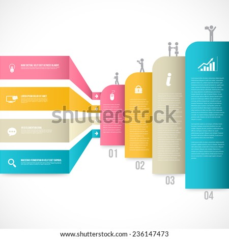 Vector business concepts with icons. can use for infographic. loop business report or plan, modern template, education template, business brochure, system diagram. - stock vector