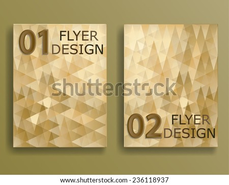 Vector Business Flyer Template. Abstract Corporate Banner Design . - stock vector