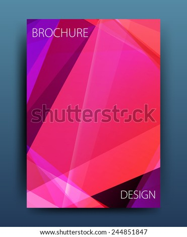 vector business flyer template or corporate banner design in A4 size  - stock vector