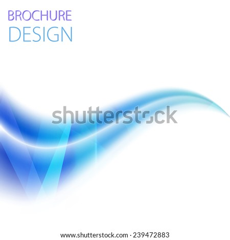 vector business flyer template or corporate banner design with blue wave on a white background - stock vector