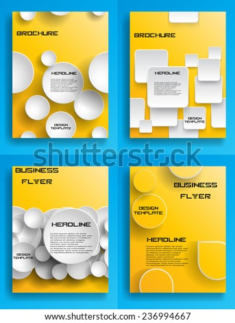 Vector Business Flyer Template or Corporate Design . Brochure Design Template . Abstract Modern Background - stock vector