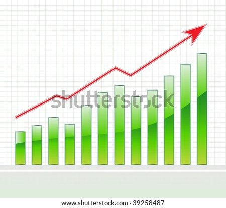 vector business graph - stock vector