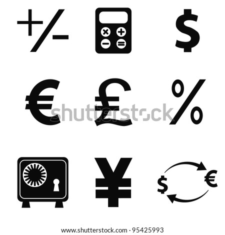 vector business icons set 5 - stock vector
