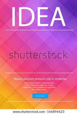 vector business layout page, easy editable - stock vector