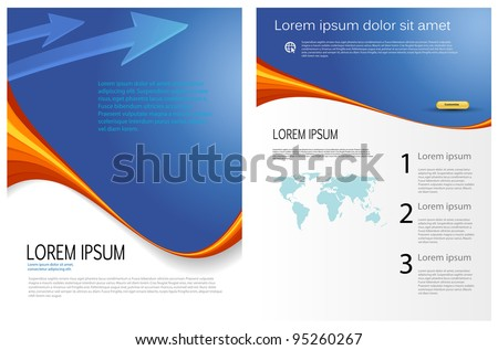 vector business marketing brochure, poster template - stock vector