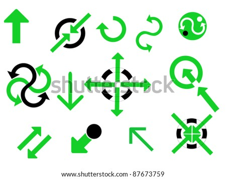 vector business web finance icons - stock vector